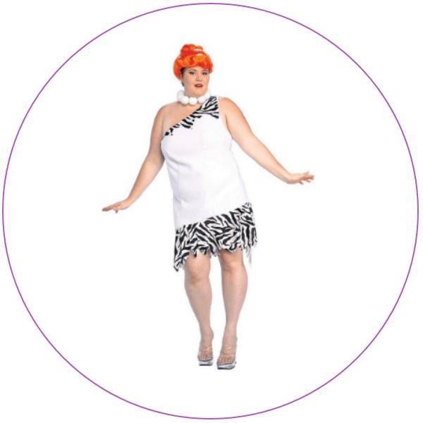 Woman wearing a Plus Size Wilma Flintstone Costume