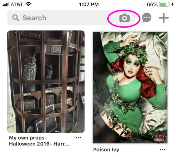 Screenshot of Pinterest smart feed