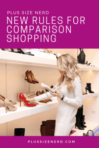 Woman looking at shoes on shelves