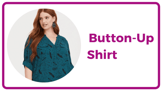 Plus Size Button-Up Shirt
