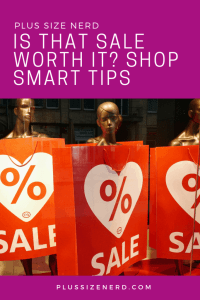 Mannequins with sale signs