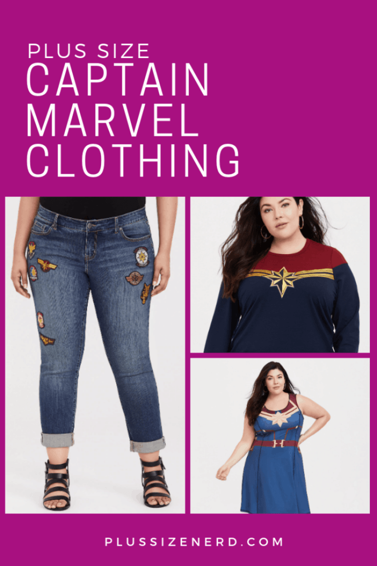 Collage of Captain Marvel clothing