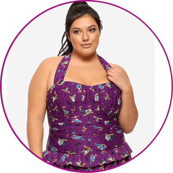 Plus Size Disney Villains Swimsuit