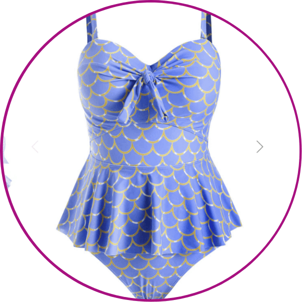 Plus Size Mermaid Tankini