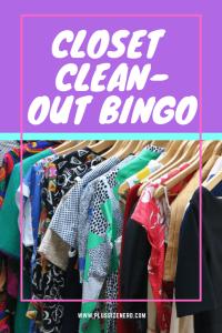 Closet Clean-Out Bingo Pin