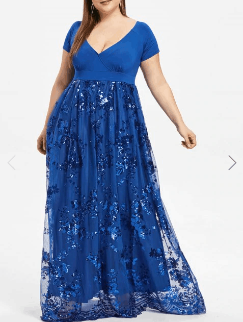 Dress Lily Blue Plus Size Prom Dress