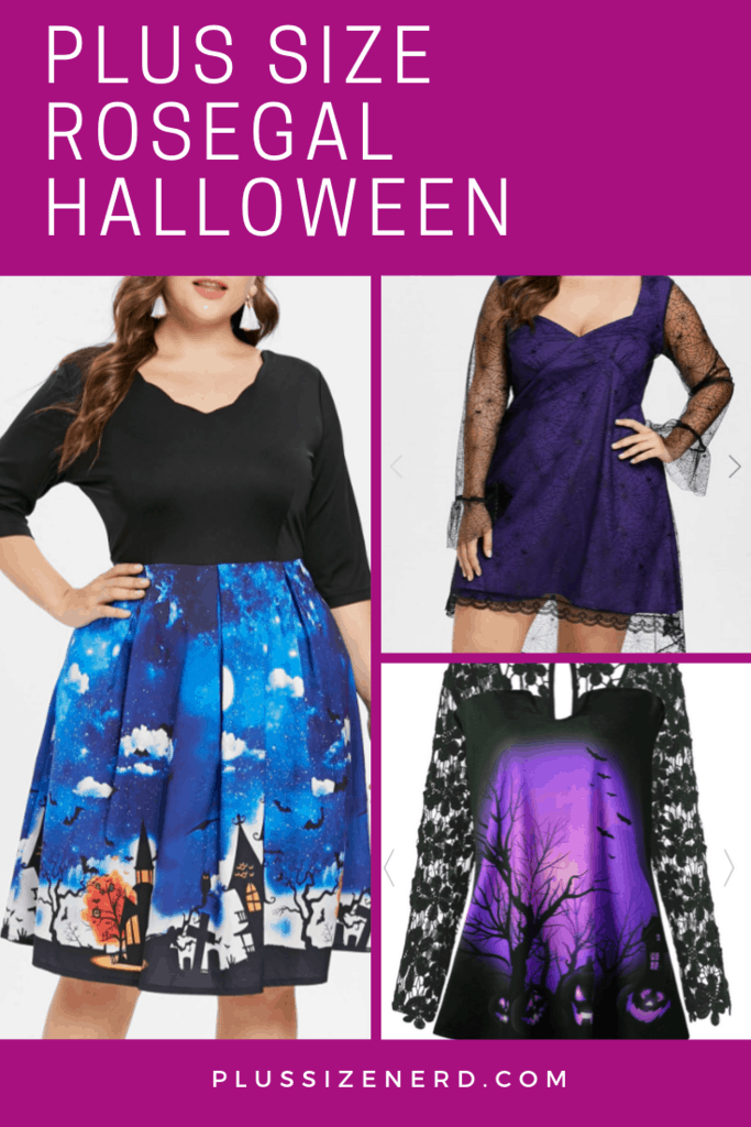 Plus Size RoseGal Halloween Dress Leggings and Tunic