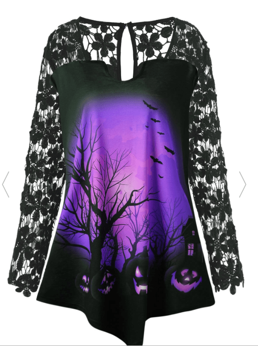 Plus Size Halloween Tunic