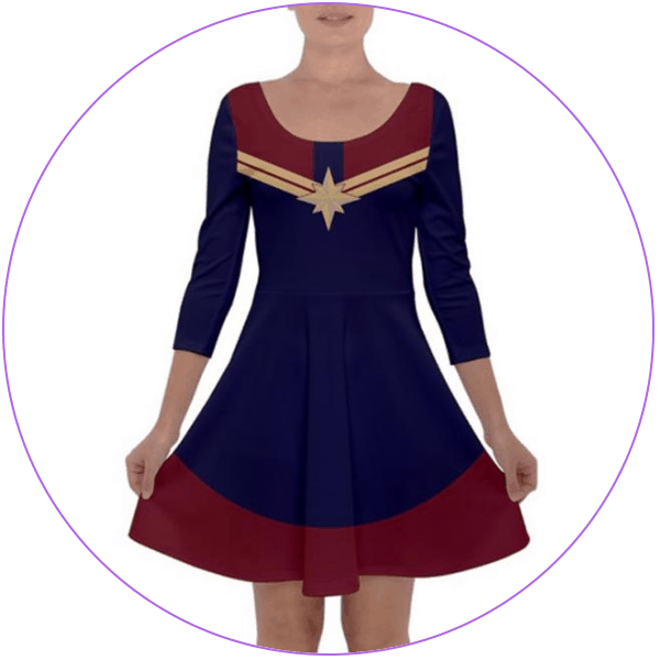 Plus Size Captain Marvel Dress Costume