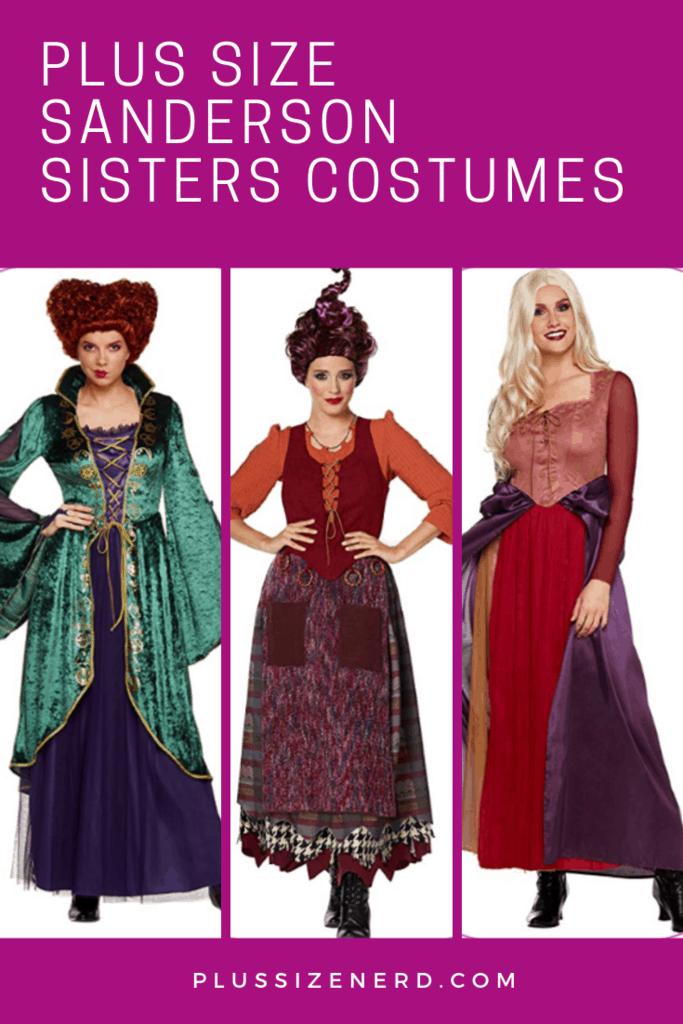 Plus Size Sanderson Sisters Halloween costumes