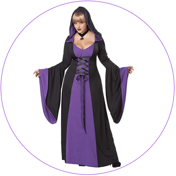 Plus Size Witch - Purple Robes