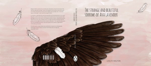 Bookcover design - The Strange Beautiful Sorrows of Ava Lavender