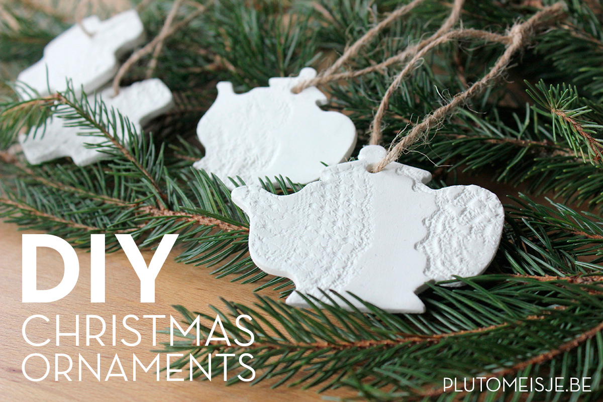 DIY Paper clay Christmas ornaments