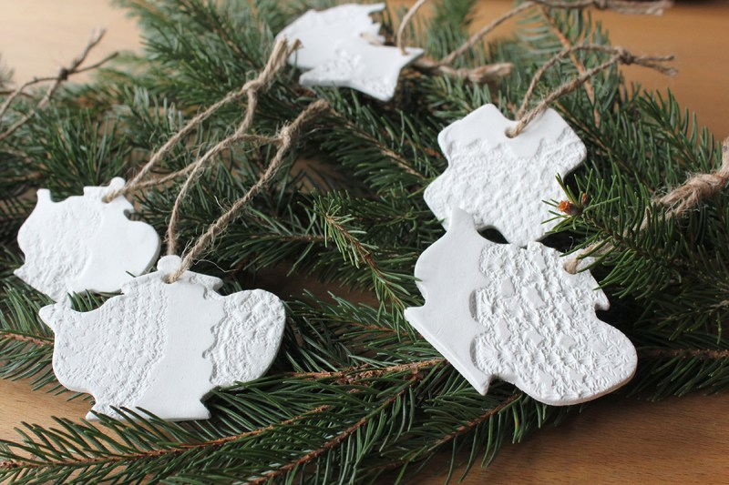 Cute handmade paper clay Christmas ornaments