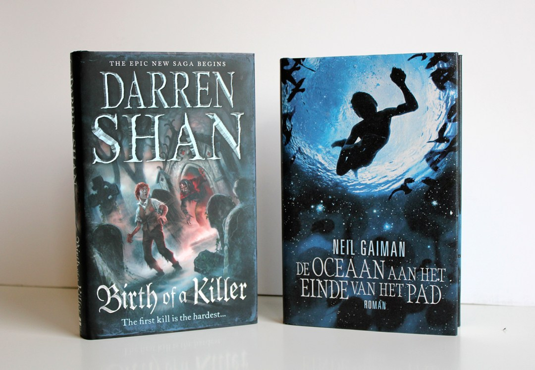 Winter book haul - Birth of a Killer by Darren Shan and De Oceaan aan het Einde van het Pad by Neil Gaiman