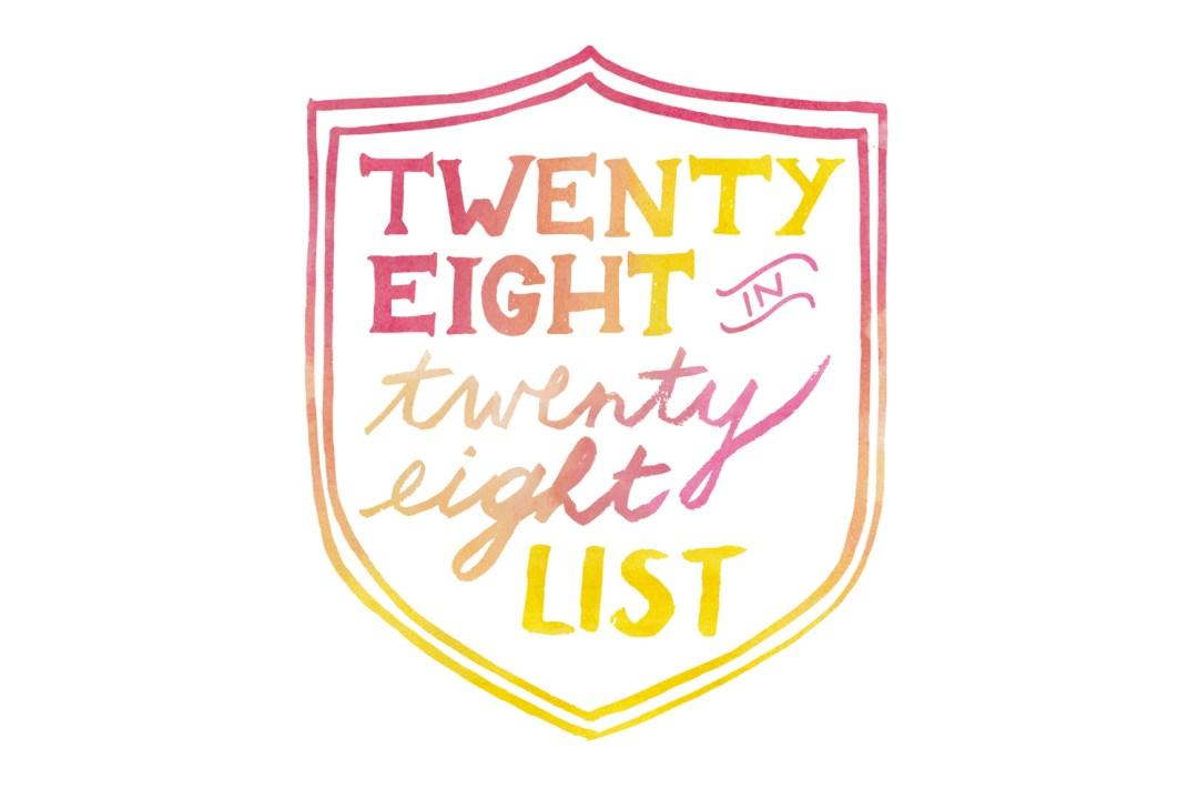 28 in 28 birthday list logo