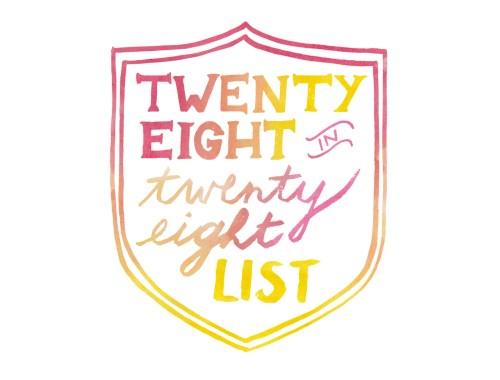28 in 28 birthday list logo