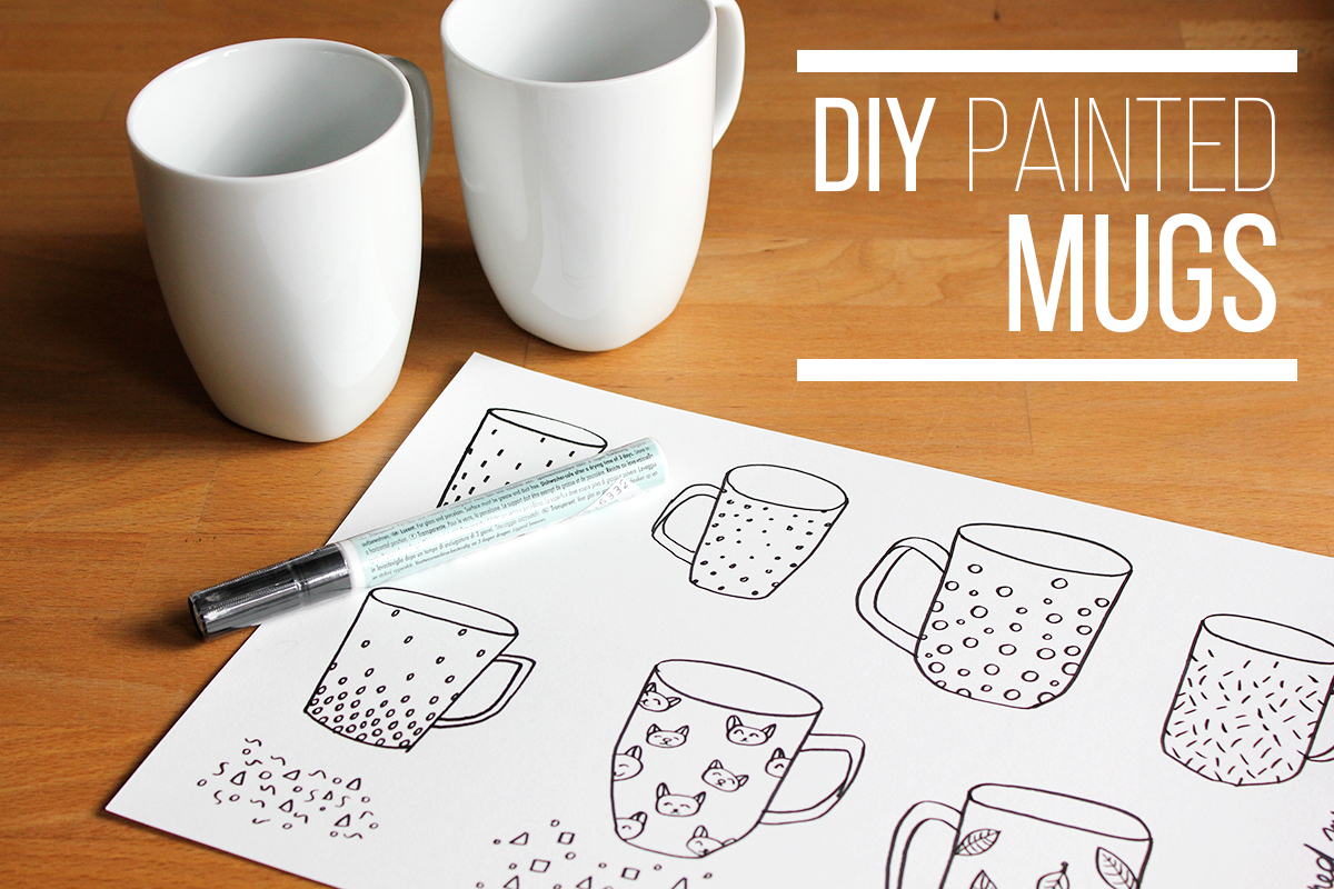 How to: painted porcelain mug