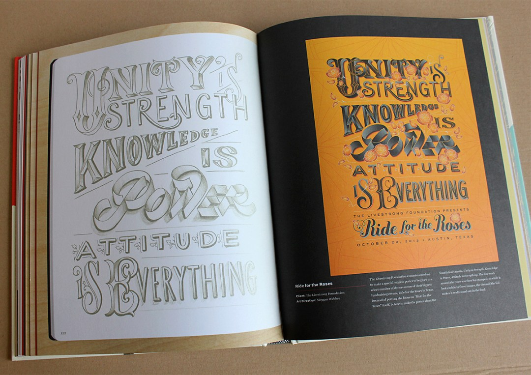 A peek into In Progress by Jessica Hische, which gives you a view Inside a Lettering Artist's Sketchbook and Process, from Pencil to Vector