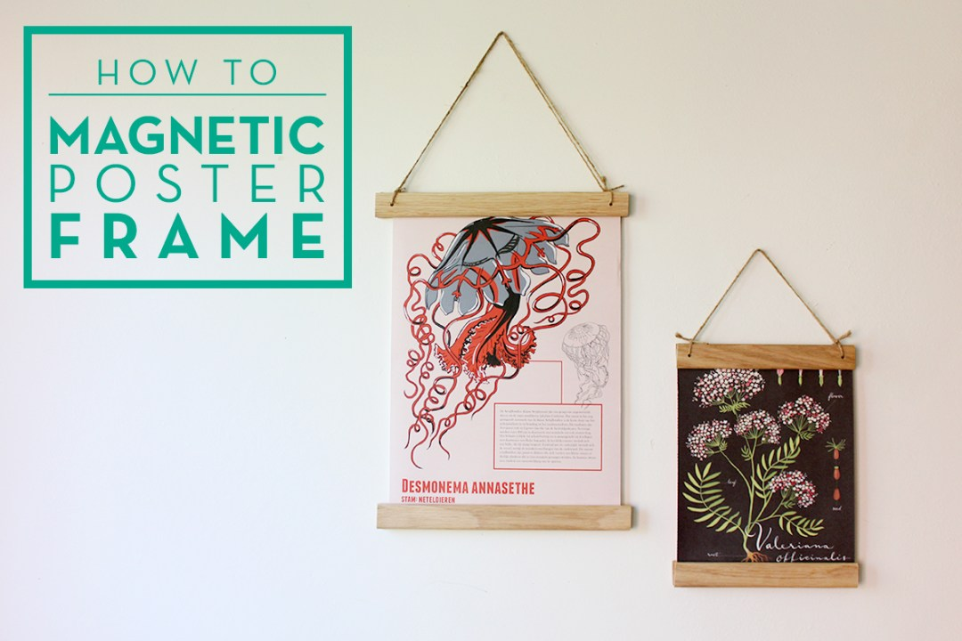 How to make a wooden magnetic poster frame