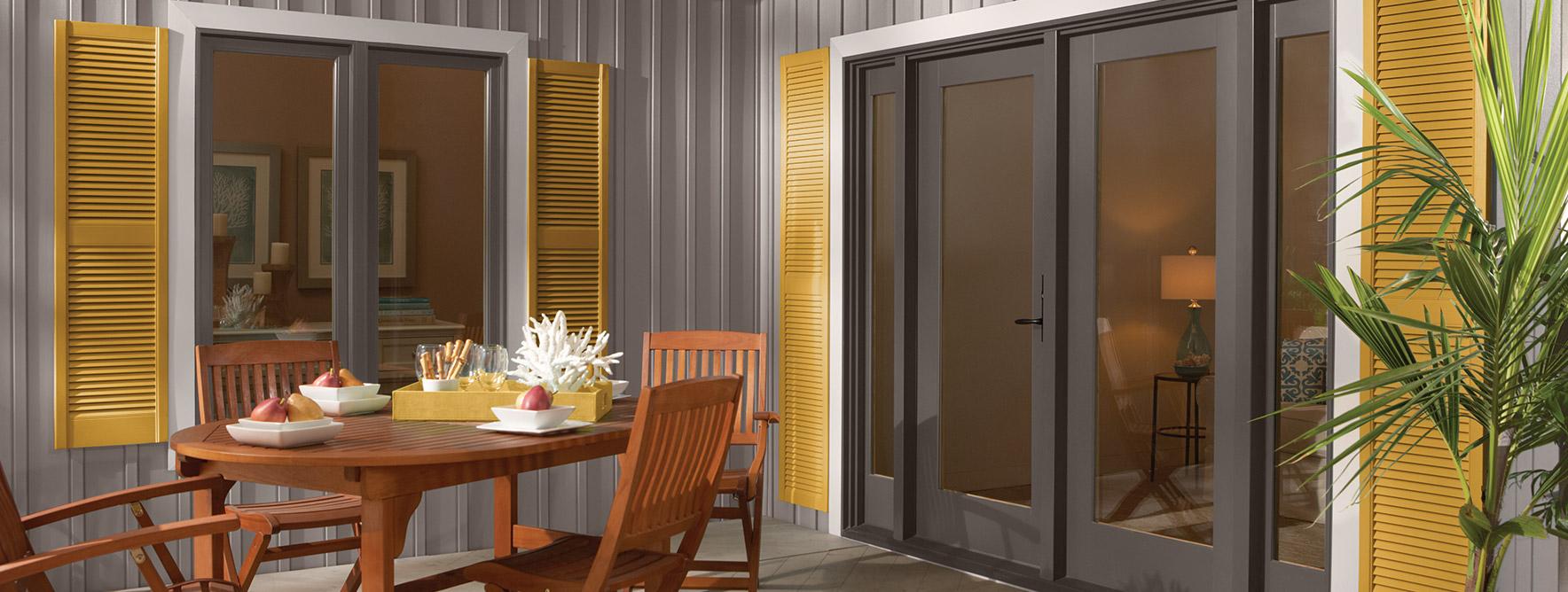 aluminum clad patio doors wood clad