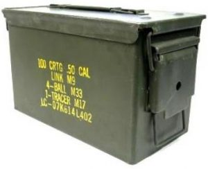 .50 caliber ammo box. From EBay