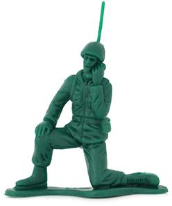 Old school green army man toy.