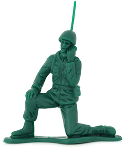 Old school green army man toy.
