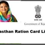 Rajasthan Ration Card