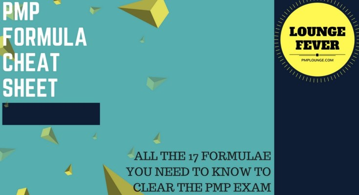 list of PMP formula for mathematical questions