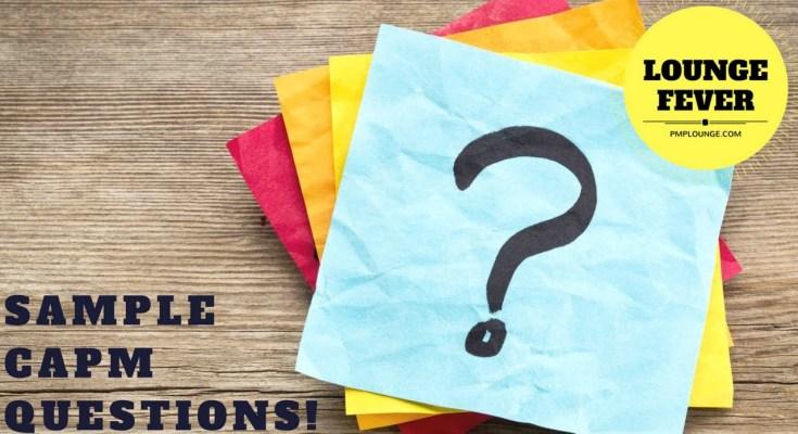 sample capm questions - Sample CAPM Questions