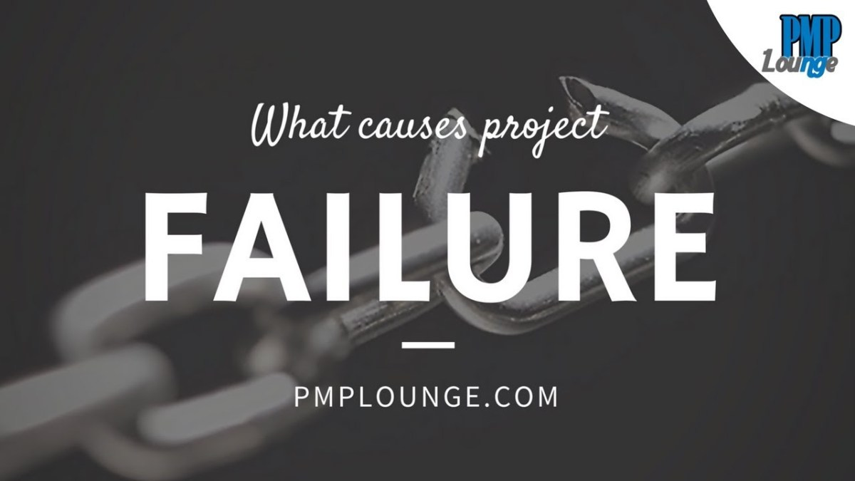 What causes Project failure?