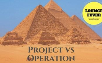 project vs operation - Project vs Operation