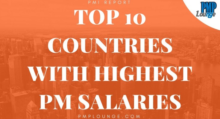 countries with highest PM salaries based on Salary Survey