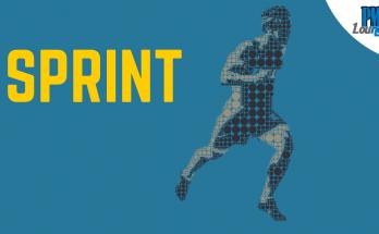 sprinter running sprint in agile and scrum