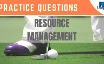 resource mnaagement practice questions - Resource Management - Practice Questions