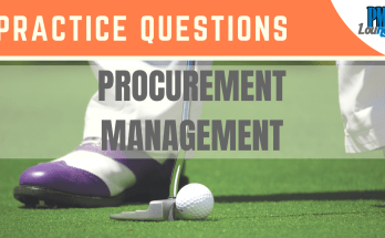 procurement management practice questions - Procurement Management  - Practice Questions