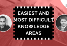easiest and most difficult knowledge areas - Which Knowledge Area is most difficult? Which one is the easiest?