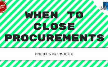 when to close procurements - When to close procurements?