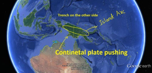 Continent – Arc Convergence or New Guinea Convergence