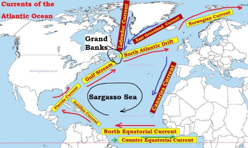 north Atlantic Ocean Currents