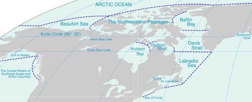seas of north america