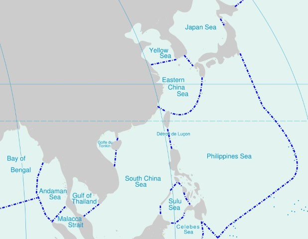 seas of western pacific - south china sea-yellow sea