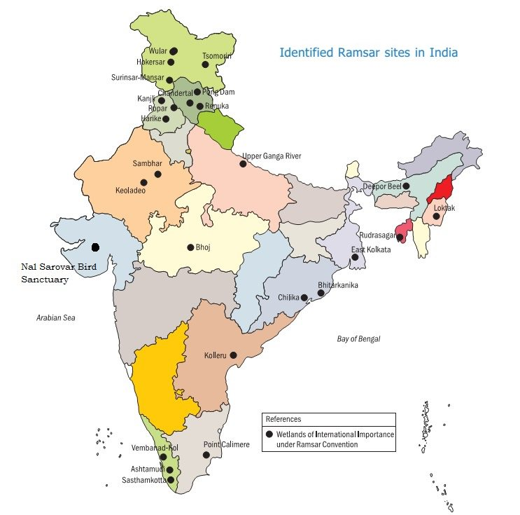 kolleru lake in india map 26 Ramsar Sites In India A Comprehensive Survey Civilsdaily kolleru lake in india map