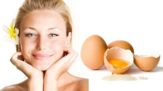 skincare with eggs