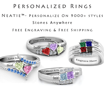 Buy personalised rings in UK from neatie.com