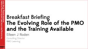 PMO Learning - Evolving PMO