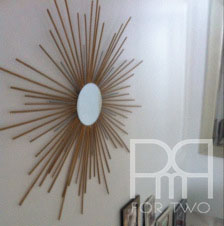 diy starburst star mirror