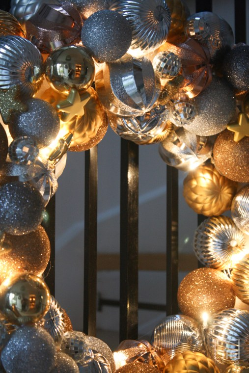 ornament wreath close up