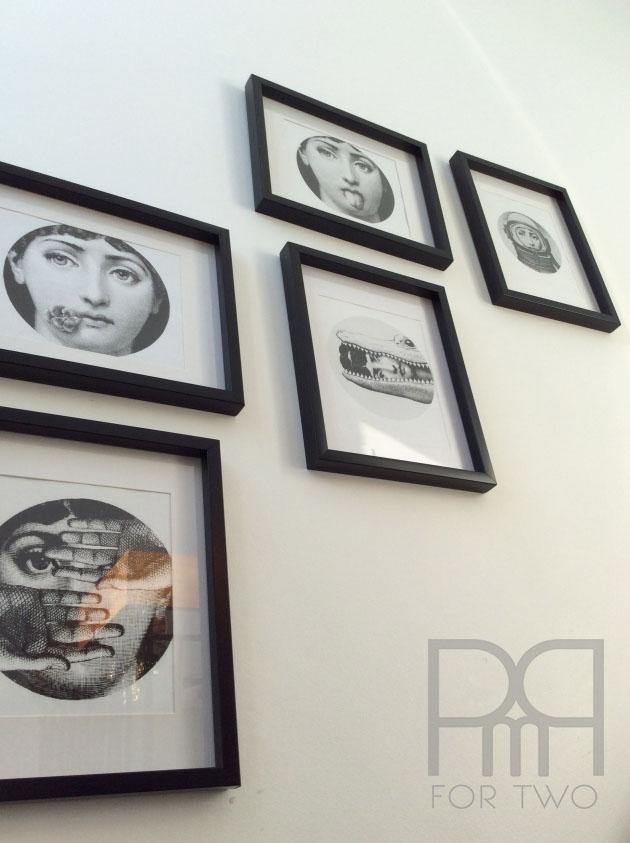 fornasetti gallery wall